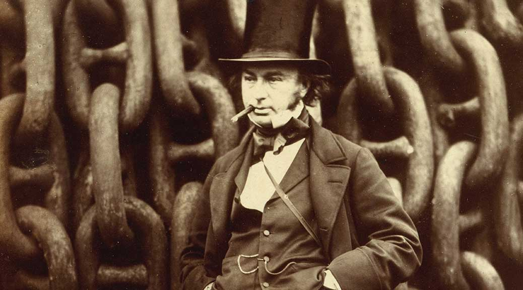 Isambard Kingdom Brunel Standing Before the Launching Chains of the Great Eastern, 1857