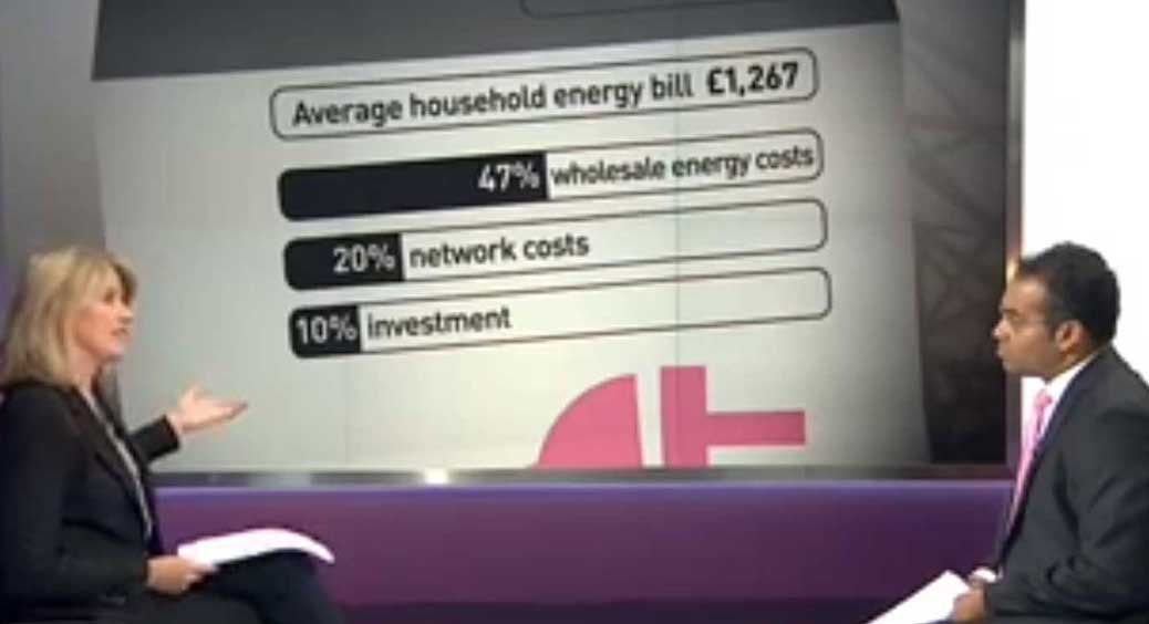 C4 News: Average Household Energy Bill Breakdown
