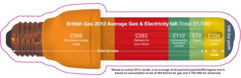 British Gas Average Duel Fuel Bill