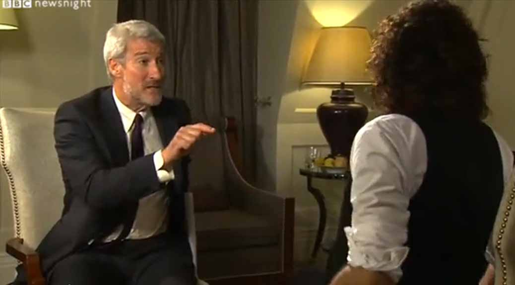 Jeremy Paxman, Russell Brand, Newsnight Interview