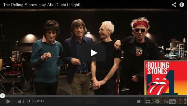 The Rolling Stones Play Abu Dhabi Tonight, Friday 21 Feb 2014