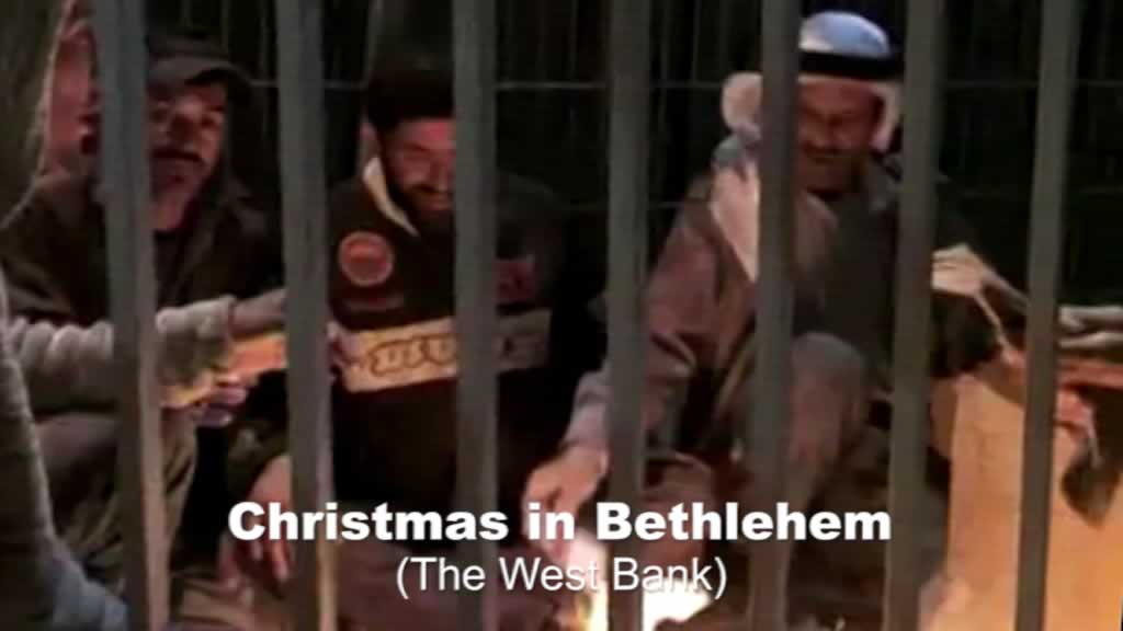 Bethlehem Arabs around fire